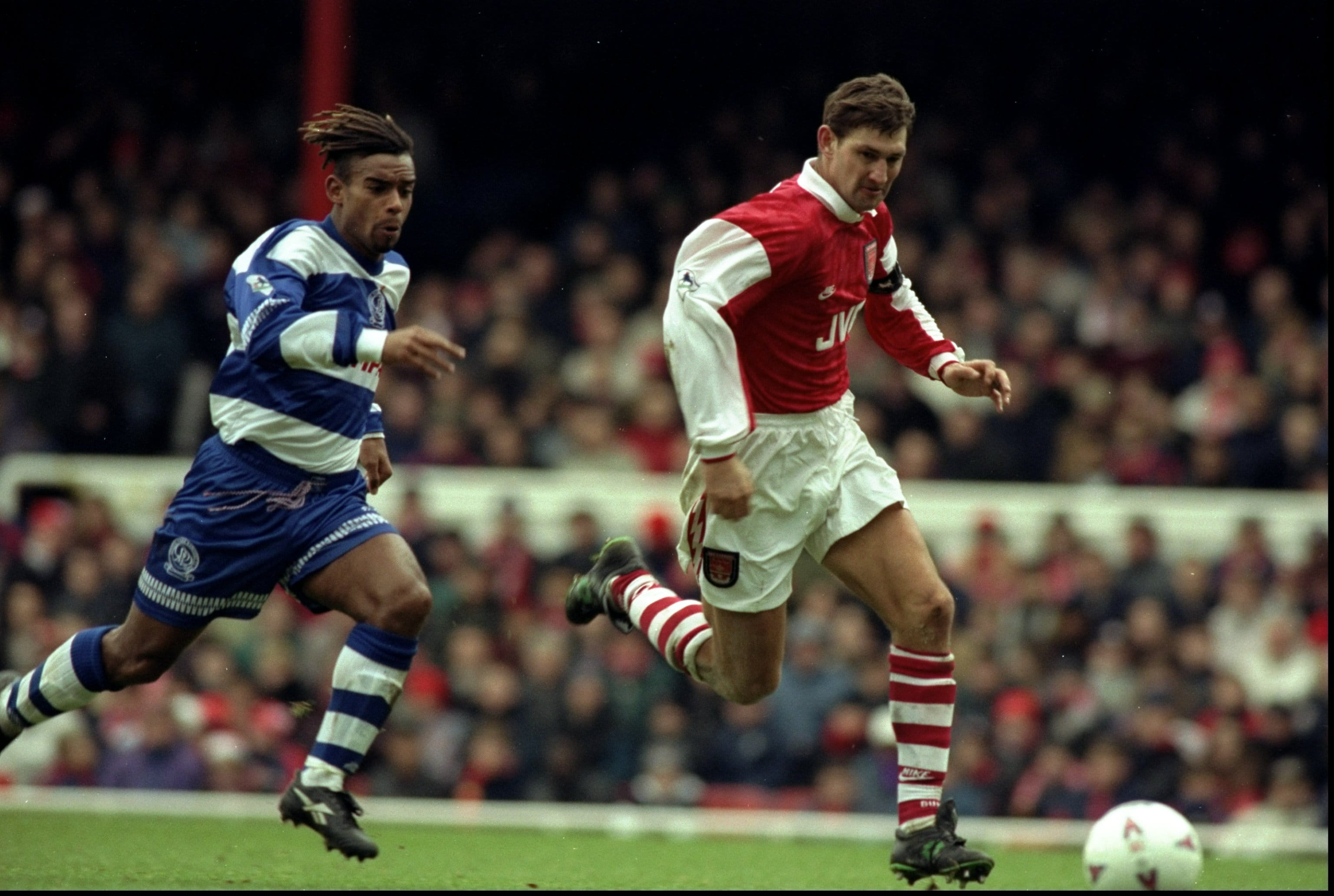 Tony Adams playing for Arsenal