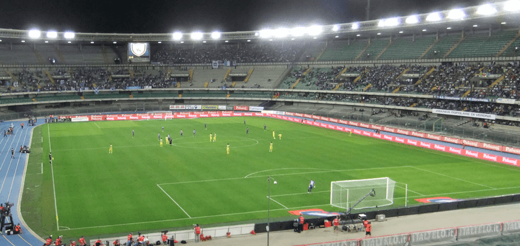 Chievo's stadium in Verona