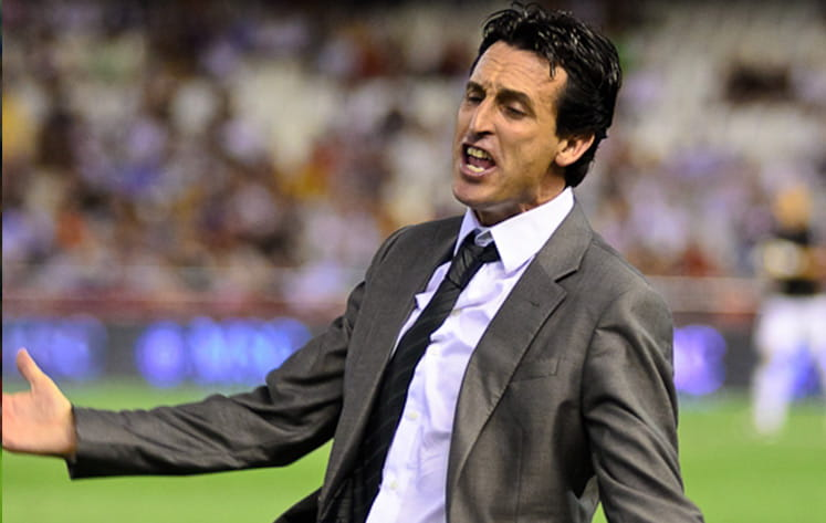 Sevilla coach unai emery before the final