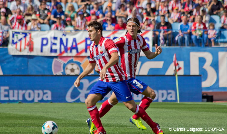 Koke on the ball for Atletico Madrid