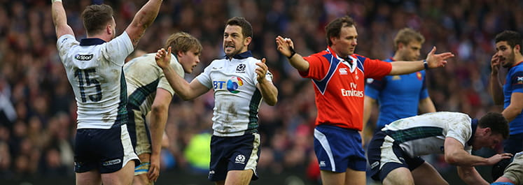France lose to Scotland at Murrayfield in the 2016 Six Nations