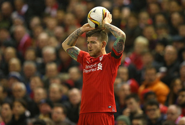 alberto moreno is currently out of favour at liverpool