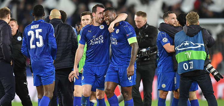 Wes Morgan and Christian Fuchs