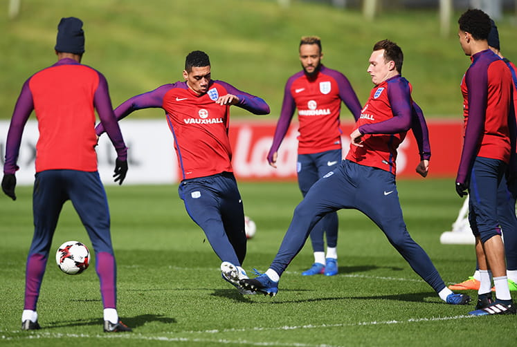 England football squad training
