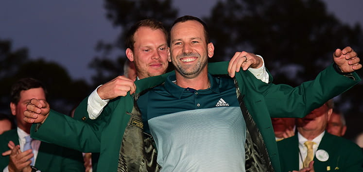 Sergio Garcia green jacket