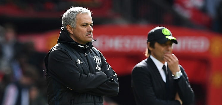 José Mourinho and Antonio Conte