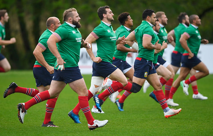 British & Irish Lions training session at Maynooth, County Kildare