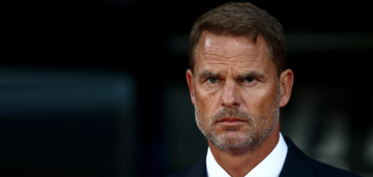 Frank de Boer was sacked this week