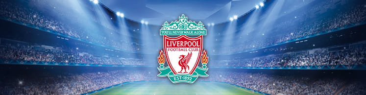 Liverpool badge and stadium