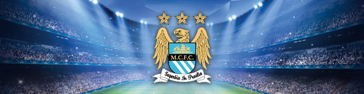 Manchester City badge and stadium