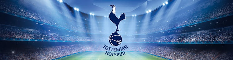 Tottenham badge and stadium