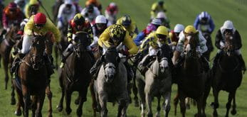A fleet of horses running in the sesarwitch handicap feature image