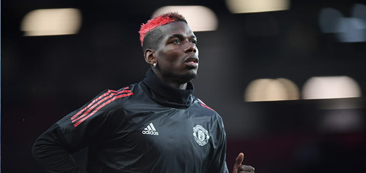 Paul Pogba with red hair