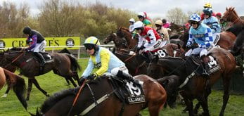 The famous Becher chase taking place at Aintree