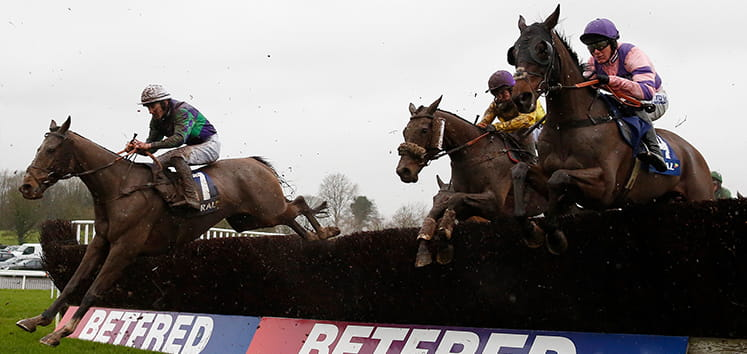 Jumping horses at the Welsh Grand National