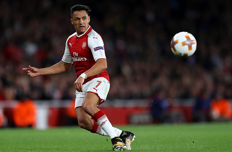 Alexis in action for Arsenal