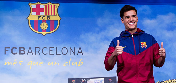 Coutinho in a barcelona shirt