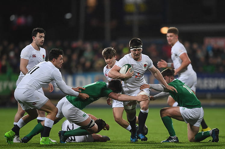 England rugby team in action