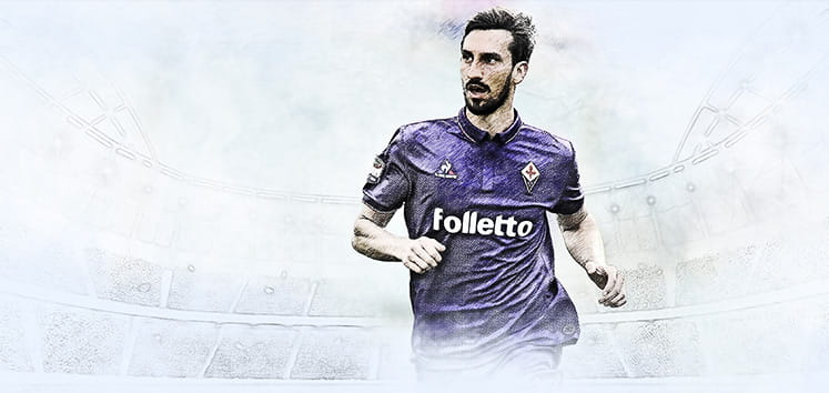 Davide Astori playng for Fiorentina