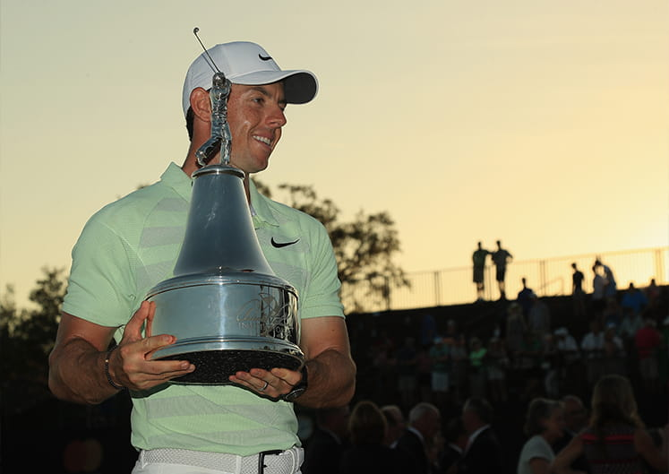 Mcilroy with a trophy