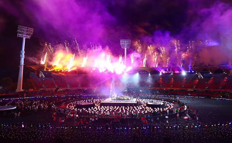 Closing ceremony at the 2018 Commonwealth Games