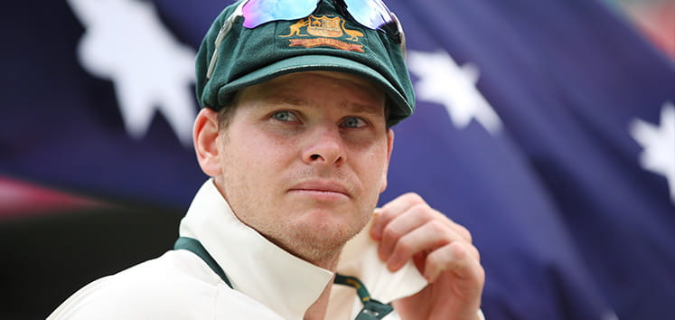 Australian cricket captain Steve Smith headshot