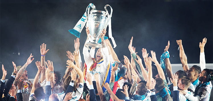Real Madrid Lifting the Champions League