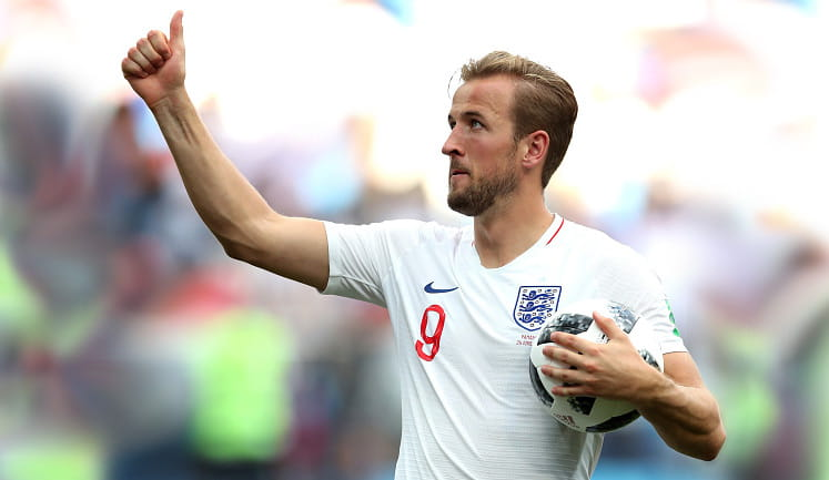 Harry Kane after scoring a hat-trick
