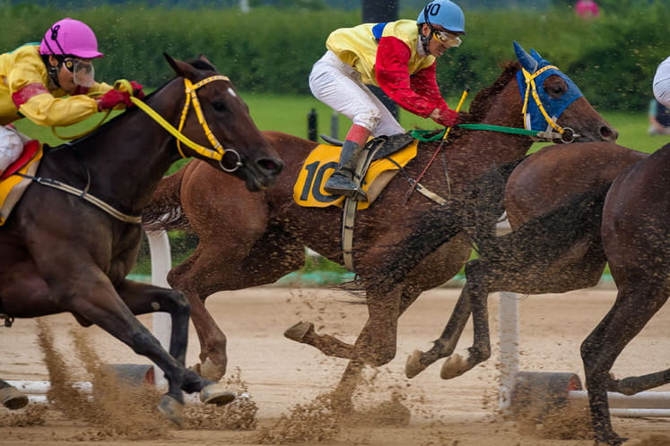 Horses racing at Doncaster