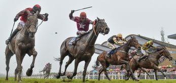 Horses racing in the Irish Grand National