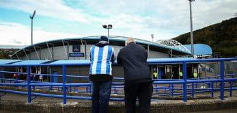 Huddersfield fans outside the stadium