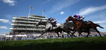 Horses racing at Epsom