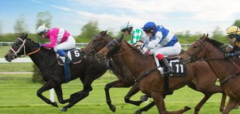 horses racing on track
