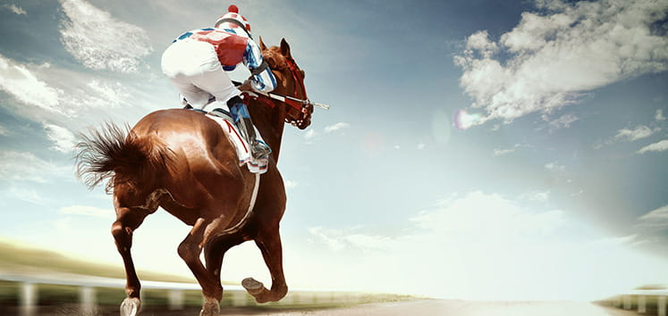 horse riders racing