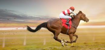 race running hard horse